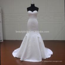 MM033 satin simple en mariée sirène julie vino robes de mariée