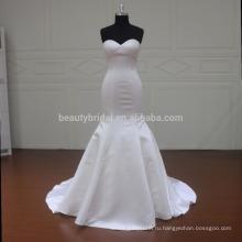MM033 простой атласная свадебное русалка Джули вино свадебные платья
