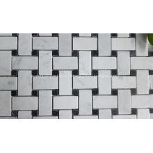 Mosaïque en pierre à motif marqueté pour salle de bain