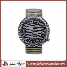 Zebra Pattern Fashion Quartz reloj de pulsera para damas
