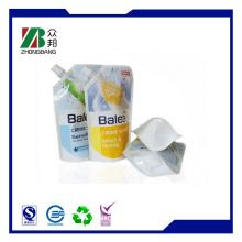 Stehen Sie den Auslaufbeutel für Flüssigseife / Waschmittelverpackung auf