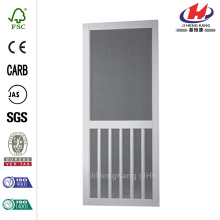 White Solid Vinyl 5-Bar Screen Door