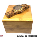 Top-Quality Zebra-Wooden Watches Date Quartz Watches