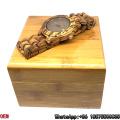 Top-Qualität Zebra-Holz Uhren Datum Quarz Uhren