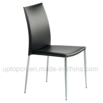 Commercial Wholesale Restaurant Cafe Black Leather Chair (SP-LC222)