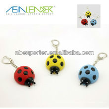 2013 Led Keychain in Lady Beetle with Sound and Light