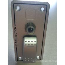 1 Gang Aluminium Bus Marine Boat Bridge Control Rocker Switch Panel with Breaker