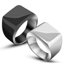 Мода Из Нержавеющей Кольца Яркий Черный И Серебристый Цвет