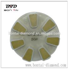 "5"" dry diamond resin concrete polishing pad for floor,like marble ,granite,concrete"