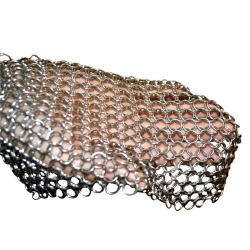 Stainless steel chainmail scrubber/stainless steel ring mesh