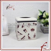 Caixa de tecido facial de cerâmica com esmalte crepitante