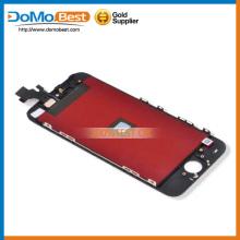 Grado AAA suficiente stock vidrio delantero lcd táctil para el iphone 5 completa lcd