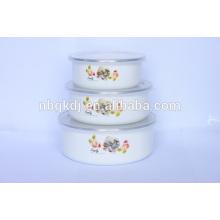 5 pc printed enamel bowl & used in kitchen enamel coated ice bowl