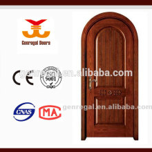 Puerta superior de arco compuesto de madera
