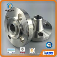 La bride de tuyau de cou de soudure de bride de bride de Rtj forgée par ASTM B16.5 (KT0377)