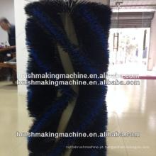 Máquina da escova do rolo de 4 linhas centrais