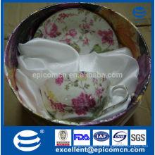 Fina de porcelana 200cc taza y venta de promoción platillo