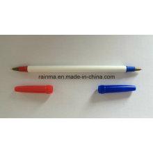 2016 bolígrafo con punta doble rojo y azul