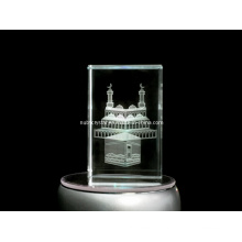 Kaaba Engraved in Crystal Cube for Muslim