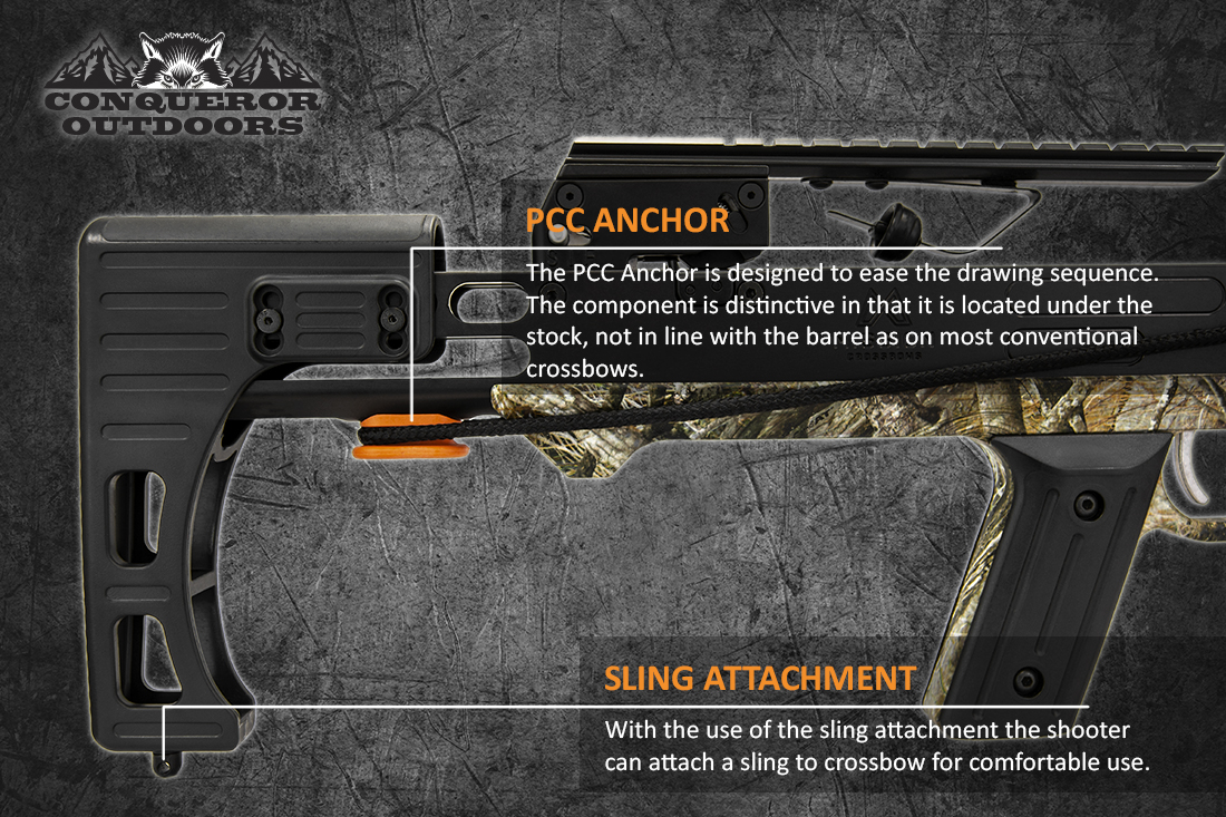 Mission Crossbow Sniper Lite Stock Detail with Text