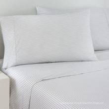 100% Baumwolle Satin Streifen Bettwäsche Leinen für Hotel / Home (WS-2016344)