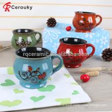 Reusable porcelain stoneware milk mug,silk printing cheap coffee mugs