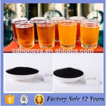 Producción de cerveza activada en polvo de carbón con un valor de yodo de 950