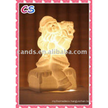Christmas Decoration Handmade Carve Ceramic Table Lamp