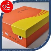 Caixa de cartão de cor laranja de alta qualidade para sapatos