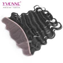 Frontal brasileiro do laço do cabelo do Virgin da onda 13.5 * 4 do corpo