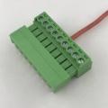 Bloco de terminais de 9 vias com montagem Pitch PCB de 3,5 mm