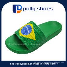 Новый Бразил Унисекс Мужские Флип-Флоп Сандалии Синий Желтый