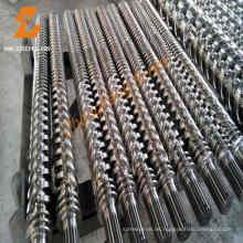 Kunststoff-Maschinen Bimetall konische Doppelschnecken und Fass