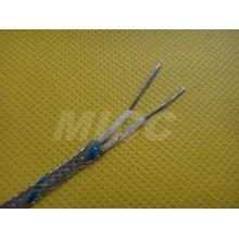 Cable de extensión de termopar Tipo KX-FG / SSB 2x16 / 0.2mm