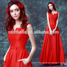 Новое прибытие 2017 особого случая длинные красные атласные вечернее платье Красный шифон Вечерние платья вечернее платье 2017