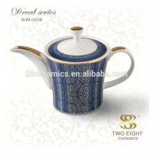 Jogo de chá da porcelana do osso cobre o bule indiano do potenciômetro do café turco