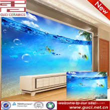 3D underwater world printing ceramic wall tile for living TV background