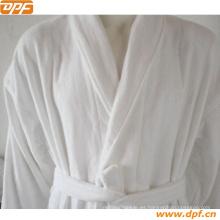 De alta calidad White Piping Velvet Albornoz (DPR3012)