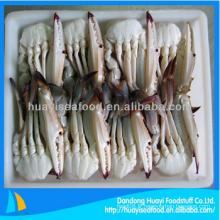 Délicieux frais à moitié coupé bleu crabe de natation