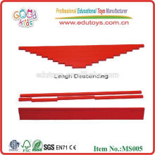 Montessori juguetes Long Red Rods