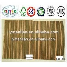 chapa de bubinga decorativa de madera