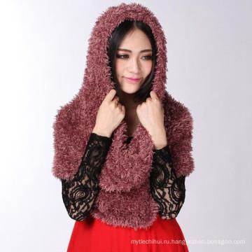Оригинальный поставщик Тайвань женщин сплошной цвет Нью-Йорк нейлон Тайвань волшебный шарф
