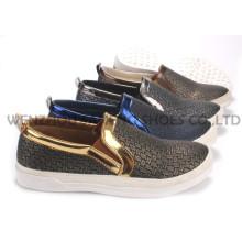 Sapatos femininos de lazer Sapatos de PU com sola de corda Snc-55009
