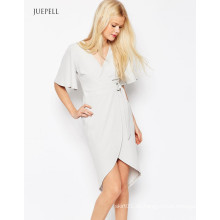 Wickelkleid Damen Kleid mit D-Ring