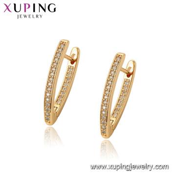 97069 xuping обруч 18k золото цвет роскошь синтетическая кожа женщин серьги