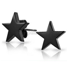 Customized Drop Earring Surgical Stainless Steel Titanium Silver Black Plated Star Stud Earrings