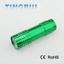Высокомощная батарея AAA Портативная миниая цветастая карманная лампа