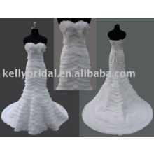 2011 latest design -Mermaid Style famous designer junoesque wedding dress