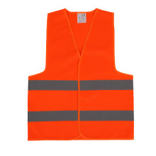 Hi-Vis Orange  Vest Men's Safety Vest