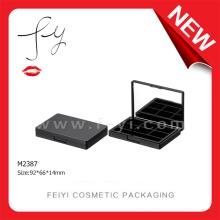 Matte Black Cosmetic Sample Packaging Eye Shadow Box